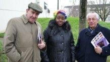 Delphine Baya,M. Pierre TOUCHARD, ancien Maire de Sablé et Vice Président du Conseil général et  M. Jean-Marie TISSOT ancien Maire de Solesmes.
